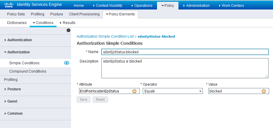 Cisco ISE: Configure Simple Conditions, Match Expression