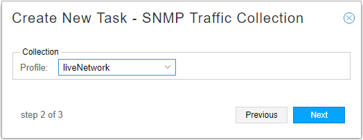 Device Collection Task, Step 2 for SNMP Traffic Collection