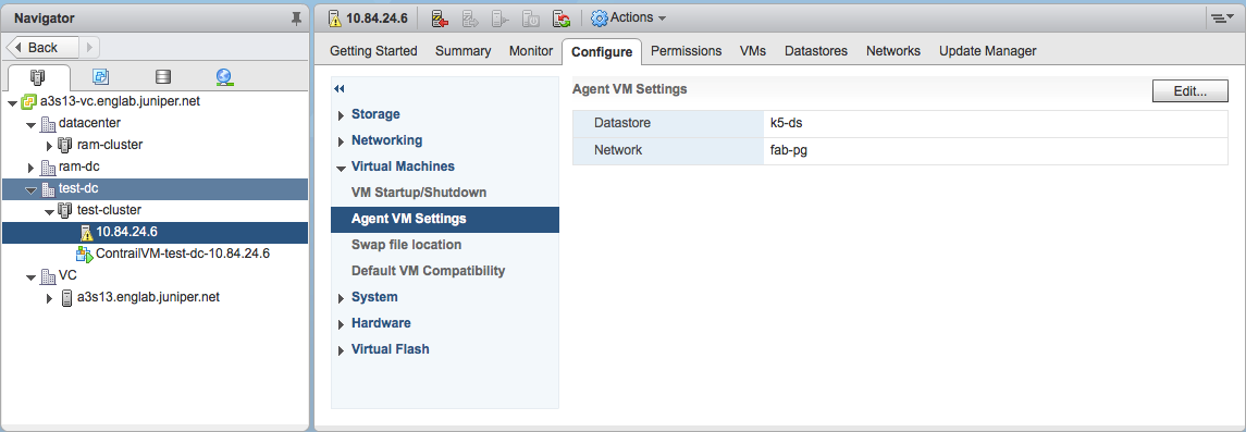Integrating vCenter for Contrail Release 5 0 2 - TechLibrary