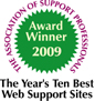 The Association of Support Professionals Award Winner 2009